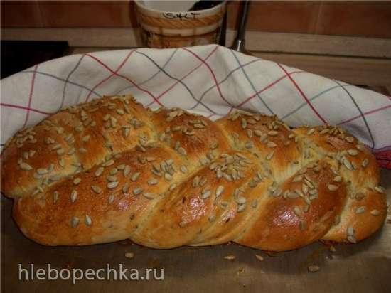 Картофельно-сметанный хлеб с семенами льна в духовке