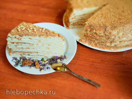 Многослойный торт-наполеон Неженка