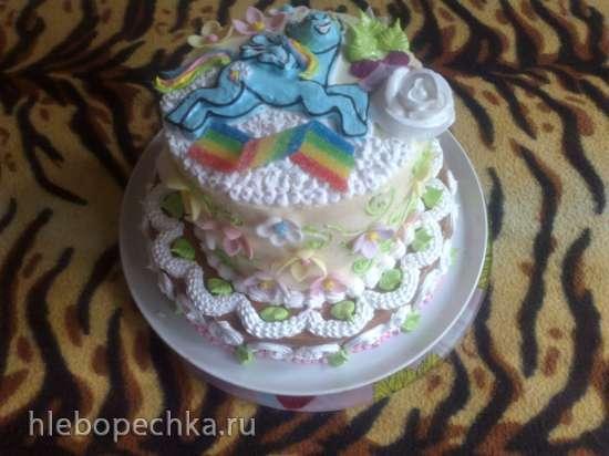 Торты, украшенные кремом (3)