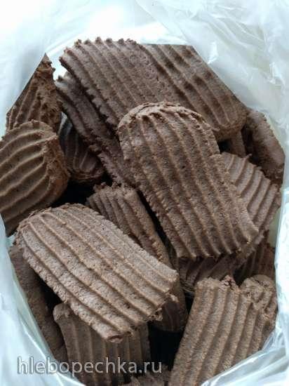 Печенье песочное с какао (паста-машина Philips)