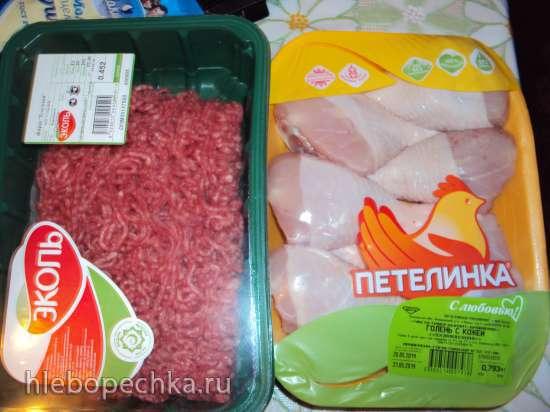 Ветчина из баранины и куриных голеней с корицей, вялеными томатами, черносливом и курагой в ветчиннице Тескома и Мультишефе Bork U-800