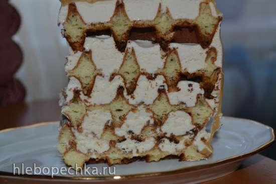 Торт «Карамель» (в вафельнице)