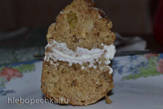 Орехово-яблочные кексы с изюмом (форма Nordica Ware кексы с шапочками)