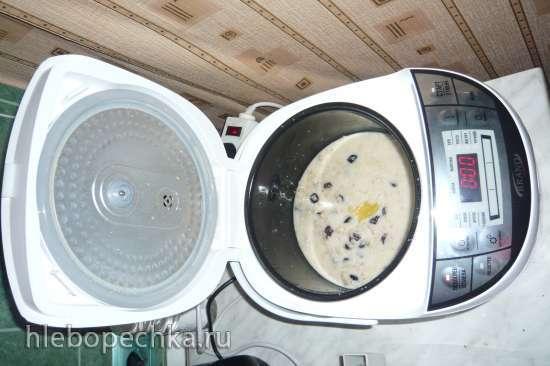 Овсяная каша с изюмом из замороженного молока (мультиварка Brand 701)