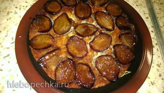 Малиновый пирог из свежей малины с лепестками миндаля (очень простой)