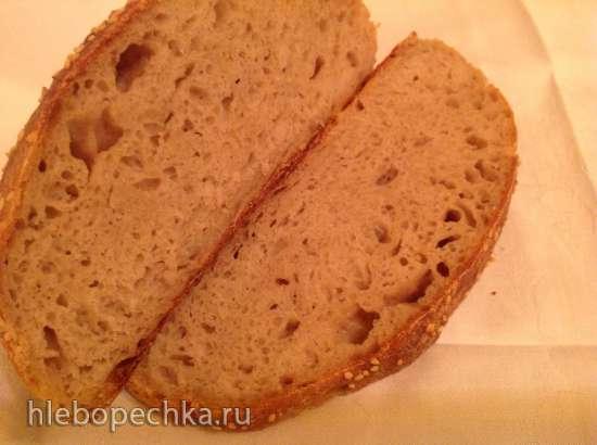 Кустарный хлеб без замеса на закваске