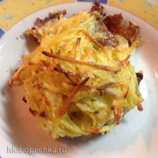 Запеканочки порционные (фарш + грибы + картофель)