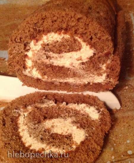 Рулет бисквитный шоколадный