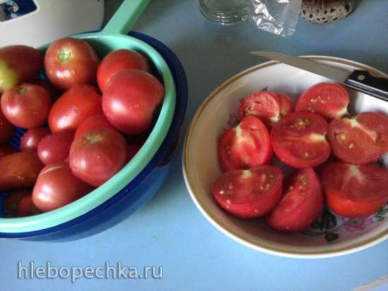 Помидоры с луком и в растительном масле