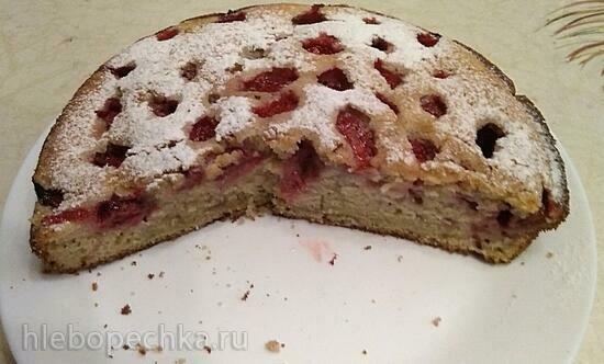 Клубничный пирог (+видео)