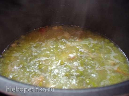 Макароны с зелёным горошком и грудинкой (Pasta piselli con pancetta e panna) в мультиварке Steba DD2