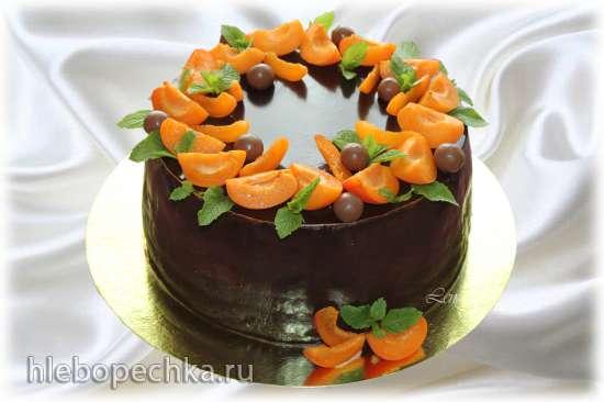 Торт Шоколадно-абрикосовая вкусняшка