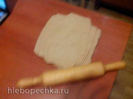 Катлама (слоеные жаренные лепешки)