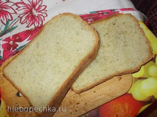 Хлеб пшеничный с сыром и укропом (духовка)