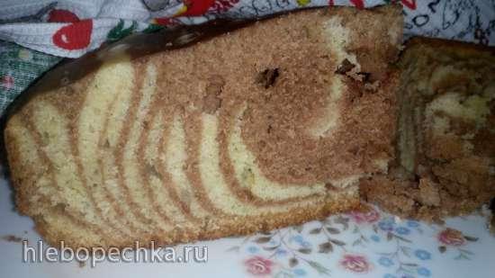 Кекс мраморный на кефире в мультиварка Polaris 0508D floris