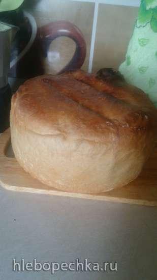 Хлеб пшенично-ржаной на кислом (старом) тесте (духовка)