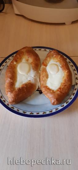 Хачапури-лодочки с творожно-сырной начинкой