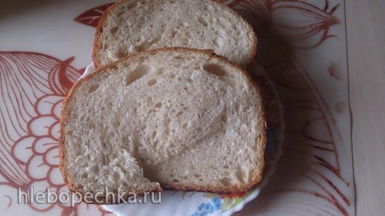 Пшеничный хлеб на хмелевой  закваске (2 варианта)