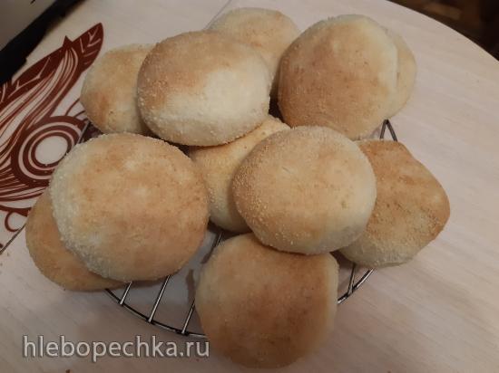 Хлеб филиппинский Пандесал, адаптированный к картофельно-хмелевым дрожжам