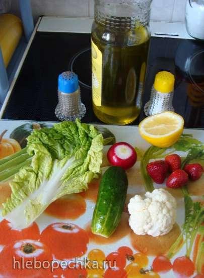 Салат Зелёно-Бело-Красный
