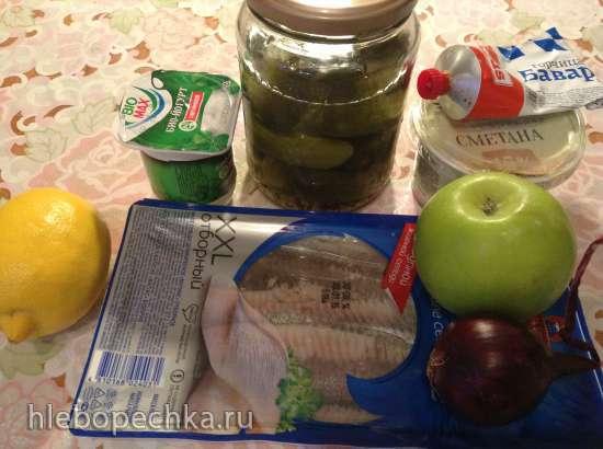 Деревенская трапеза: угощение по-баварски. Салат с сельдью.