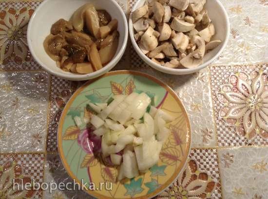 Цюрихская телятина с картофелем рёсти (Zuricher Geschnetzeltes mit Rosti)