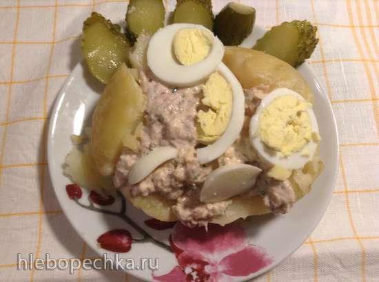 Запеченный картофель с тунцом (Folienkartoffeln mit Thunfisch-Fullung)