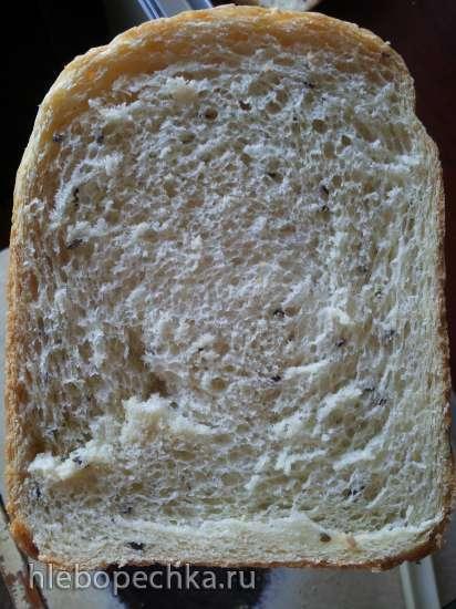 Пшеничный хлеб с манной крупой и  семенами льна