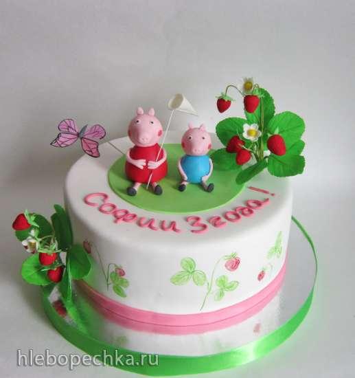 Торт Свинка Пеппа Peppa