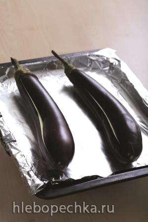 Баклажан запечный с зеленью и чесноком в газовой духовке Zigmund&Shtain BN 20.504W