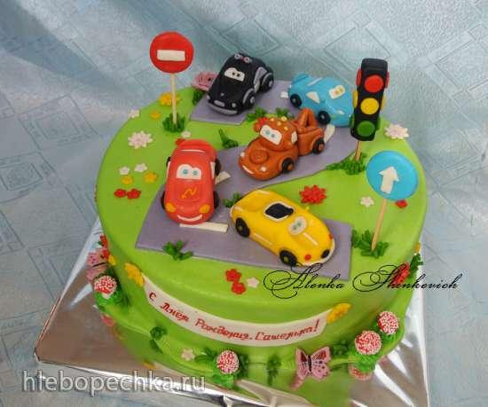 Торт дорога с машинками фото