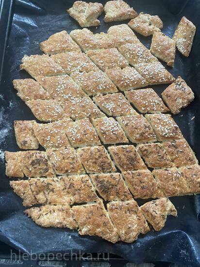 Печенье с творогом и сыром