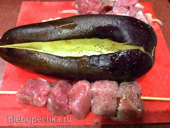 Мцвади - шашлык в баклажанах (для барбекю, аэрофритюрницы, аэрогриля, духовки)