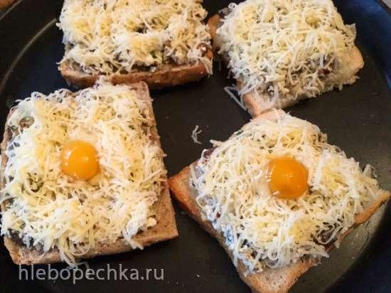 Деревенские грибные тартинки для мальчишника или пивной вечеринки