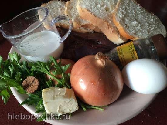 Мясной бульон с печеночными кнедлями блинчиками (Hochzeitssuppe или Festtagssuppe)
