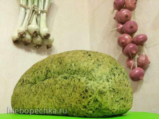Зеленый хлеб со шпинатом к немецкой пасхе (Gruenes Brot mit Spinat)