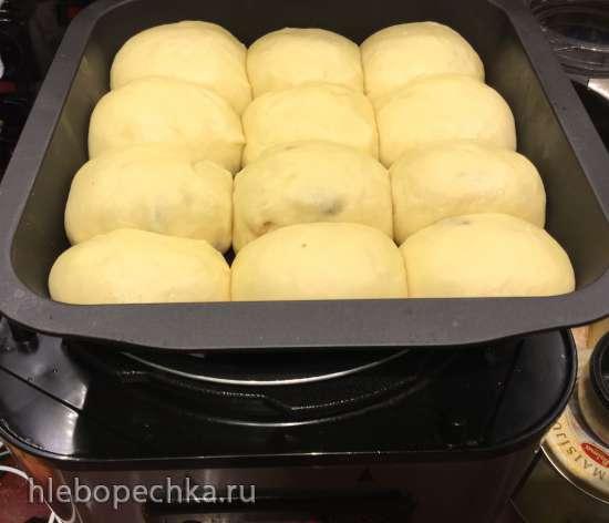 Медовые дрожжевые булочки за 30 минут