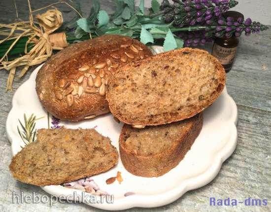 """Булочки """"Мышки"""" и хлеб (мультизерновые) из теста на закваске и опаре"""