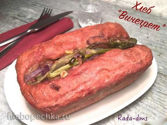 Хлеб «Винегрет» (ржано-пшеничный на огуречно-картофельном рассоле с овощами и  анчоусами)