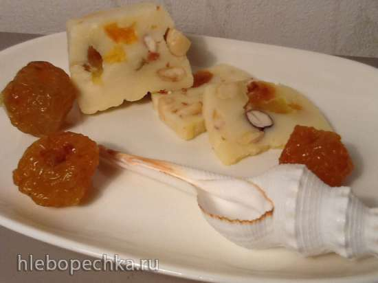 Сыр домашний десертный, два варианта подачи