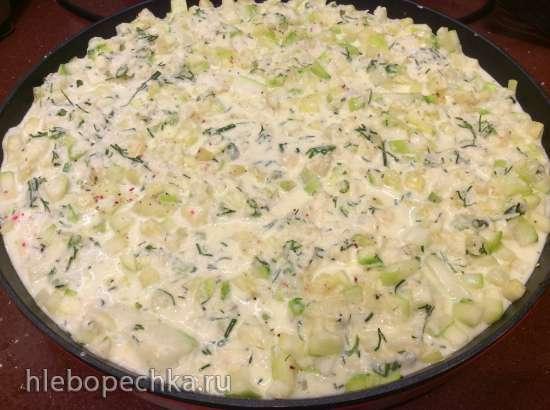 Запеканка из кабачков или цукини с сыром (расчет для пиццепечь Princess 115000)