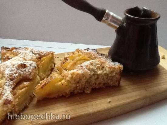 Haferflocken - Apfelkuchen (Яблочный пирог на овсяном тесте)