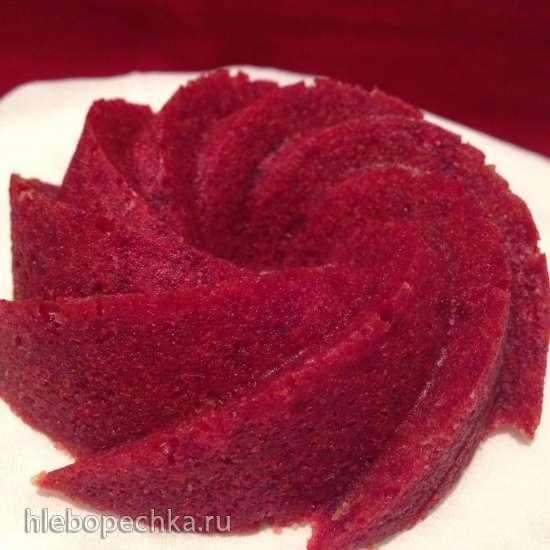 Бисквит Red Velvet  (натуральный краситель)