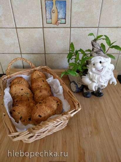 Печенье с сыром Пармезан, зеленым луком и чесноком (пиццамейкер Princess или духовка)