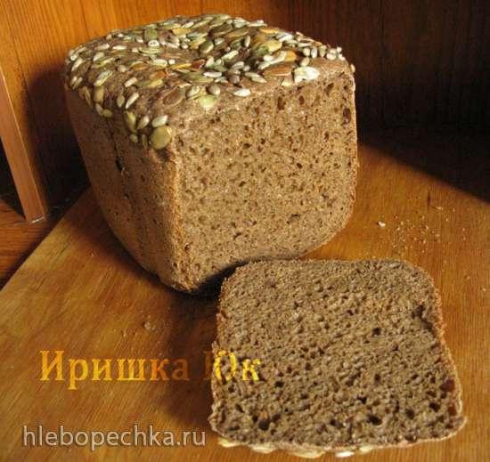 Дарницкий хлеб на вечной закваске в хлебопечке