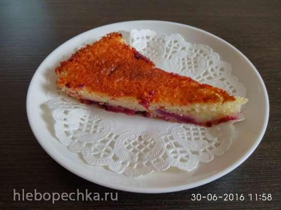 Клубничный (ягодный) пирог на кефире