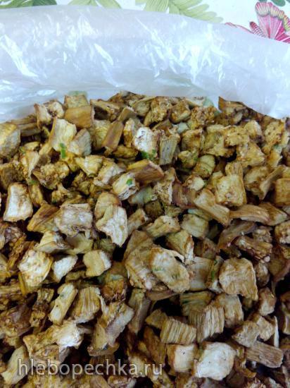 Сушеные баклажаны кусочками, в сухом маринаде