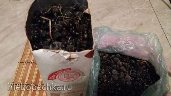 """Варенье из черной смородины """"Нежная ягодка в легком желе"""" (измерение составляющих стаканом)"""