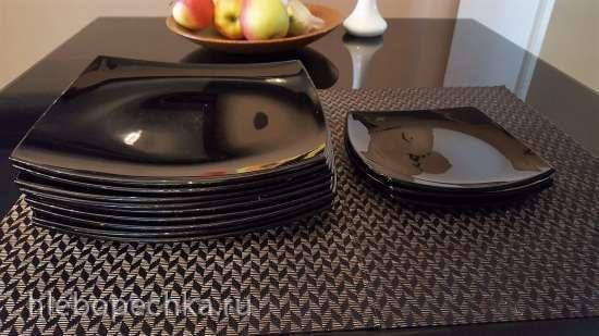 Продам набор черной посуды Luminarc Quadrato б/у