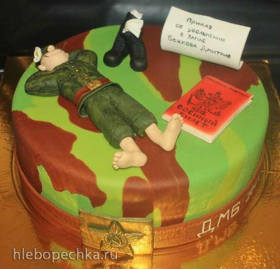 Торты с солдатом, с фото